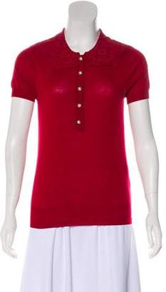 Dolce & Gabbana Wool Polo Top