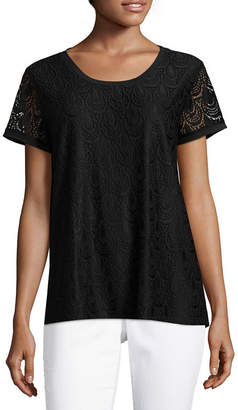 Liz Claiborne ISELA Isela Short Sleeve Lace Top