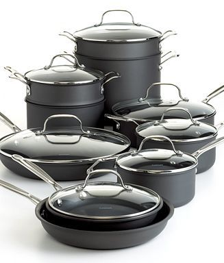 CLOSEOUT! Cuisinart Chef's Classic Nonstick Cookware, 17 Piece Set