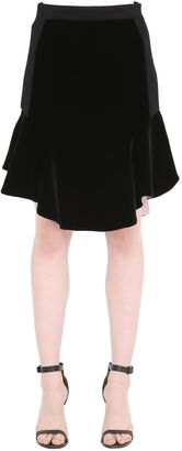 Flared Viscose Crepe Skirt $1,690 thestylecure.com