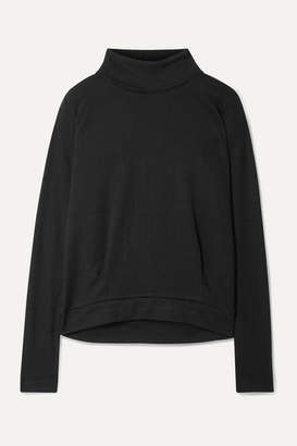 Alo Yoga Clarity Rib-trimmed Jersey Turtleneck Sweatshirt - Black