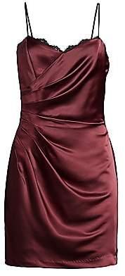 Parker Black Women's Mirabella Ruched Satin Mini Dress
