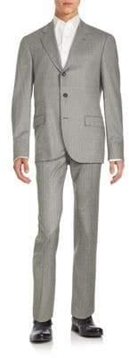 Brunello Cucinelli Striped Wool Suit