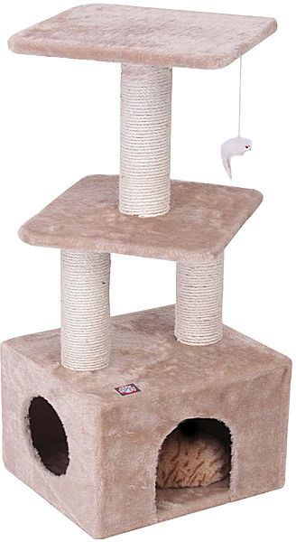 "JCPenney Majestic Pet 40"" Casita Faux Fur Cat Tree"