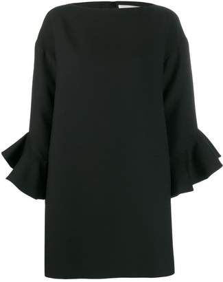 Valentino tulip sleeve shift dress