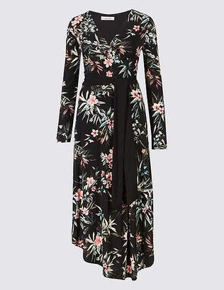 Marks and Spencer Floral Print Long Sleeve Wrap Dress