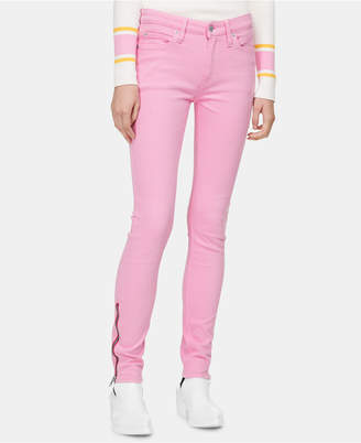 Calvin Klein Jeans Zipper-Trim Skinny Jeans