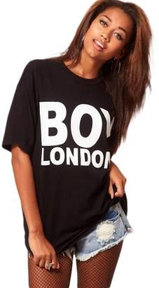 Boy London WeHeart Women Printed Round Neck Short Sleeve Slightly Loose T-Shirt ( XS)