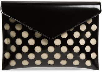Rebecca Minkoff Leo Perforated Leather Clutch