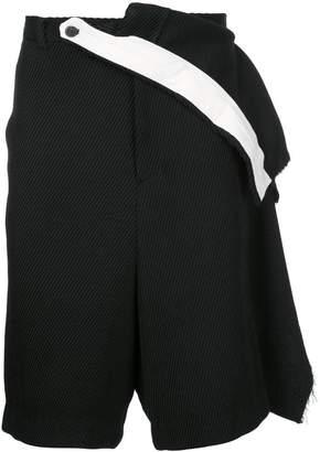 Moohong layered drop-crotch shorts