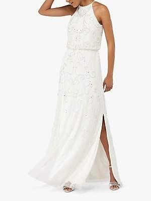 Monsoon Augusta Embellished Maxi Bridal Dress, Ivory