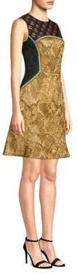 Etro Textured Panel A-Line Dress