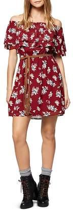 Sanctuary Skylar Off-the-Shoulder Floral Print Dress $129 thestylecure.com