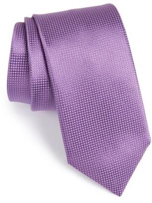 Men's Canali Solid Silk Tie $175 thestylecure.com