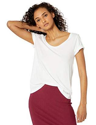 The Drop Women's Emily Short-Sleeve Scoop Neck Drapey T-Shirt