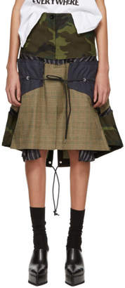 Sacai Multicolor Glencheck Stripe Skirt
