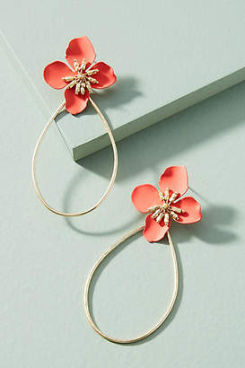 Anthropologie Mireille Floral Drop Earrings