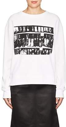 "Calvin Klein Women's ""Cotton Boots"" Cotton French Terry Sweatshirt"