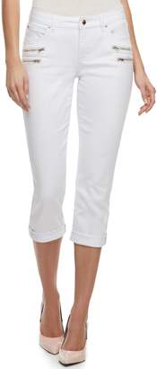 JLO by Jennifer Lopez Women's Zipper Accent Capri Pants