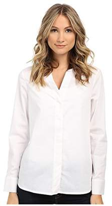 Sam Edelman Women's Devon Hidden Placket Long Sleeve Blouse Button-up Shirt MD (US 8-10)