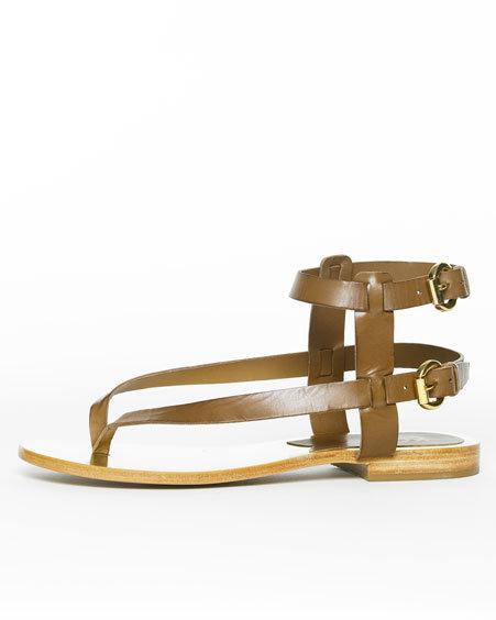 Kors Michael Kors Skorpion Gladiator Sandal, Luggage Brown