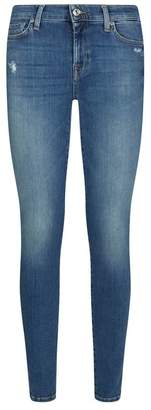 7 For All Mankind The Skinny Slim Illusion Embellished Pocket Jeans