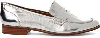 Franco Sarto Silver Jolette Metallic Penny Loafers