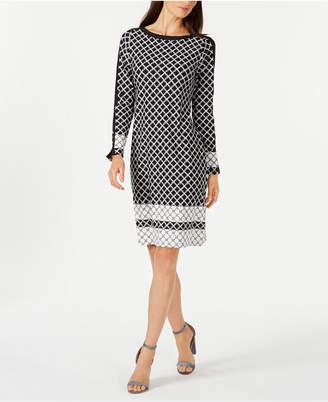 Charter Club Petite Contrasting-Print Shift Dress