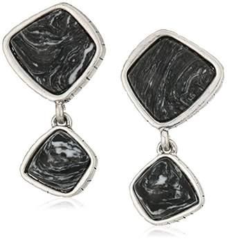 The Sak Semi-preciousDouble Stone Clip-On Earrings