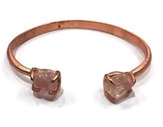 Nakamol Rose-Gold Stone Bangle