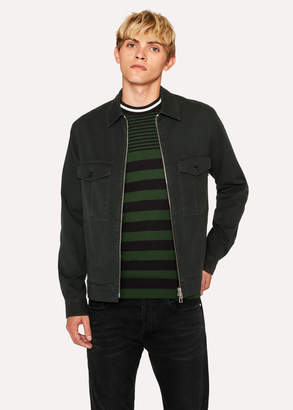 Paul Smith Men's Dark Green Cotton Patch-Pocket Jacket