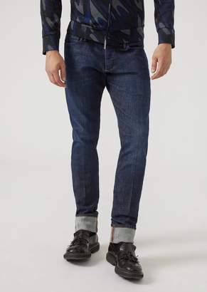 Emporio Armani J02 Slim-Fit Classic Denim Jeans With Selvedge