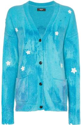 Amiri star embroidered cardigan