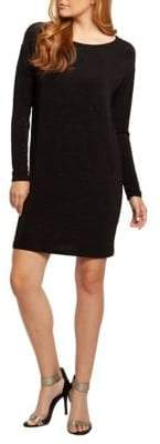 Dex Long-Sleeve Shimmer Dress