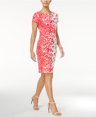 Jessica Howard Floral-Print Sheath Dress $89 thestylecure.com