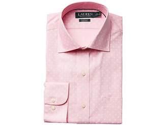 Lauren Ralph Lauren Classic Fit Non Iron Poplin Mini Paisley Print Spread Collar Dress Shirt Men's Long Sleeve Button Up