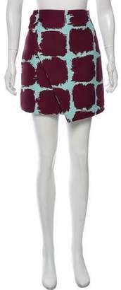Balenciaga Asymmetrical Patterned Skirt