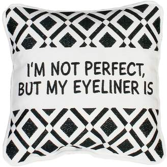 Marlo Lorenz Thro By Thro by ''Eyeliner'' Small Throw Pillow