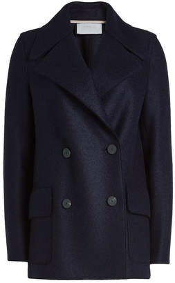 Harris Wharf London Virgin Wool Pea Coat