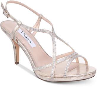 Nina Blossom Strappy Embellished Evening Sandals