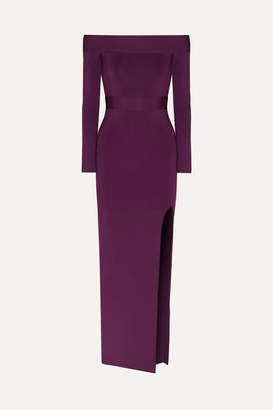 Herve Leger Off-the-shoulder Bandage Gown - Magenta