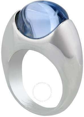 Baccarat Silver Blue Crystal Ring