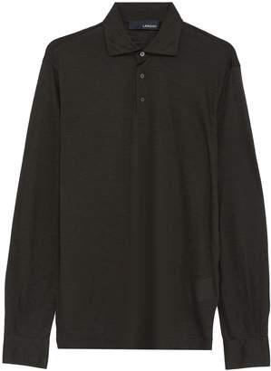 Lardini Wool knit long sleeve polo shirt