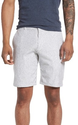 Men's Slate & Stone Stripe French Terry Shorts $128 thestylecure.com