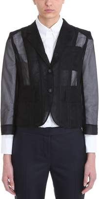 Thom Browne Lace-up Back Single Breasted Sport Blazer