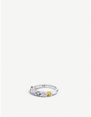 BUCHERER JEWELLERY Pastello Rivière 18ct white-gold and sapphire ring