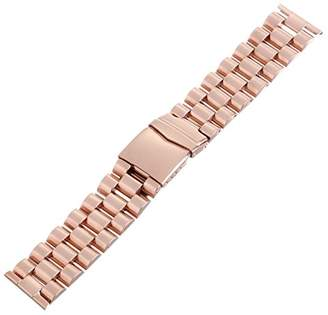 Hadley-Roma MB9024RRSE 24 24mm Stainless Steel Rose Gold Watch Strap