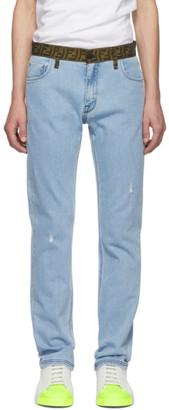 Fendi Blue Forever Belt Jeans
