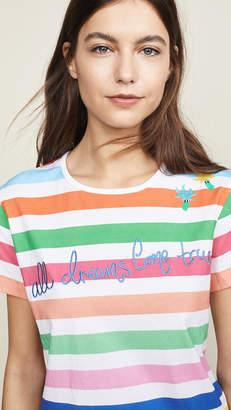 Mira Mikati Rainbow Stripe Tee