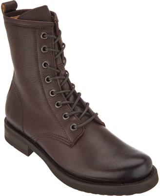 Frye Leather Lace-upBoots - Veronica Combat